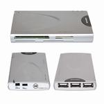 Hub USB 2.0 jusqu'à 3 appareils et lecteur de cartes  avec