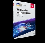Bitdefender Antivirus Plus 2018 1-PC 1 an - clé Activation p