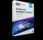 Bitdefender Internet Security 2018 5PC - 1 an clé Activation